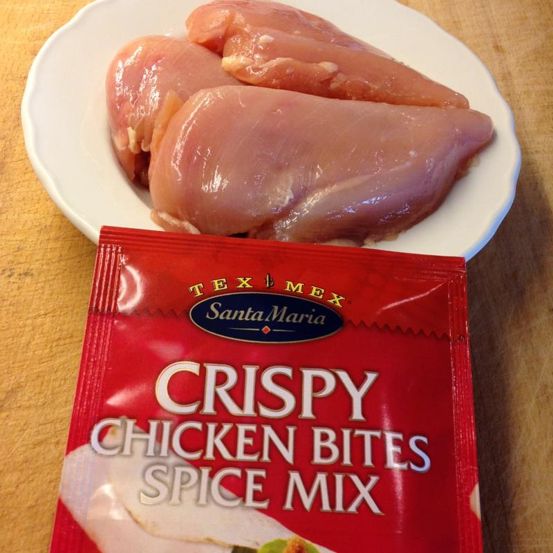 Crispy kylling  med pose