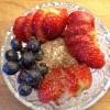 vaniljekesam med jordbær, blåbær og mørk sjokolade 3