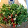 Baconsalat med fetaost og avocado