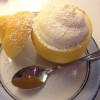 Sitroner fylt med sitron- og vaniljeparfait