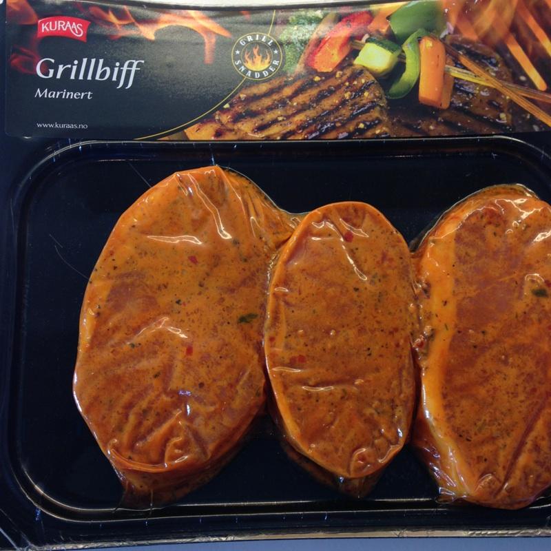 MArinert grillbiff i embalasje