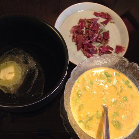 omelett klar til steking