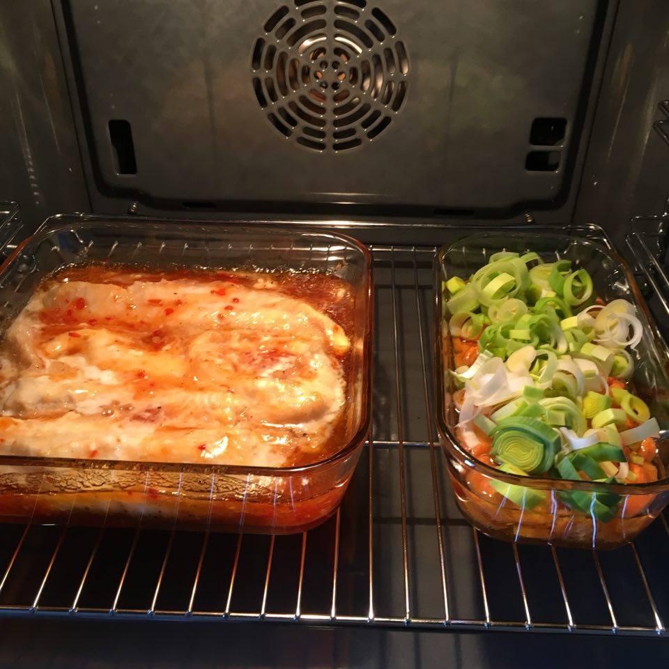 brosme og grønnsaker i ovn